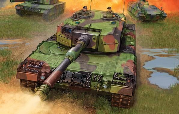 Картинка Германия, Leopard 2, Леопард 2, немецкий основной боевой танк