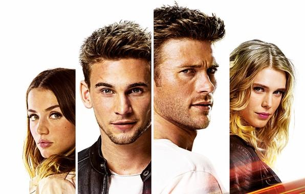 Картинка лица, четверо, белый фон, триллер, боевик, постер, персонажи, Gaia Weiss, Scott Eastwood, Скотт Иствуд, Ana …