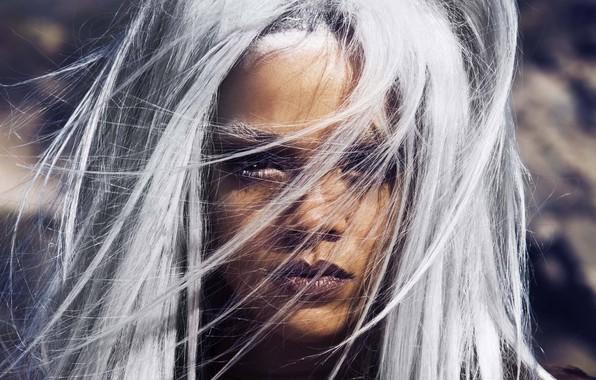 Картинка блондинка, певица, Rihanna