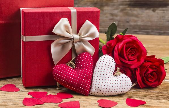 Картинка Любовь, Сердечки, Праздник, День святого Валентина, Подарок