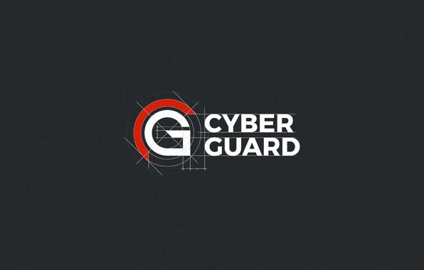 Картинка минимализм, Логотип, minimalism, Logo, Cyber Guard, Защита, Protect, CyberGuard