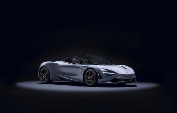 Картинка McLaren, суперкар, черный фон, Coupe, макларен, MSO, 720S