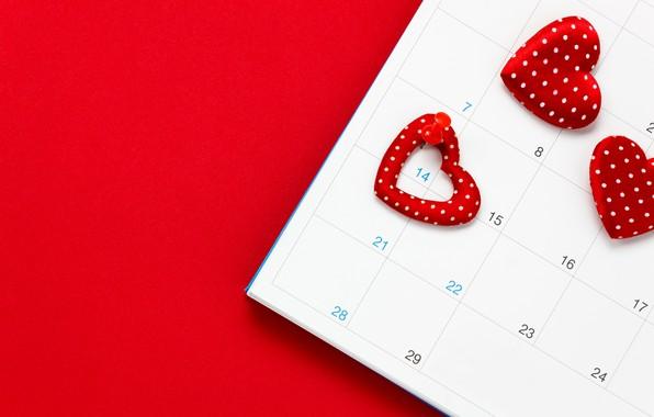 Картинка Любовь, Сердечки, Праздник, Календарь, День влюбленных