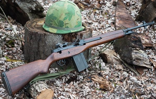 Картинка каска, Springfield, Полуавтоматическая винтовка, Armory M1A