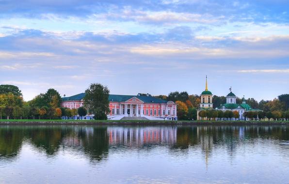 Картинка осень, москва, утро, красиво, усадьба, шереметьево, кусково