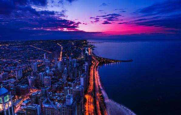 Картинка Город, Река, Чикаго