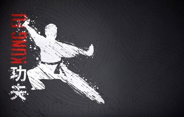 Картинка фон, человек, пояс, кимоно, стойка, философия, единоборство, Кунг-фу