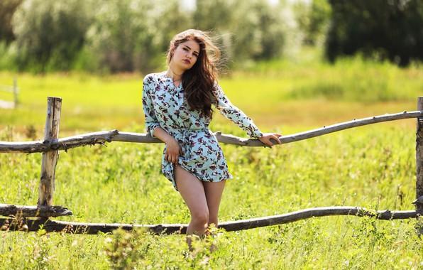 Картинка лето, девушка, платье, Kazakhstan, Sunny day, Murat Kuzhakhmetov