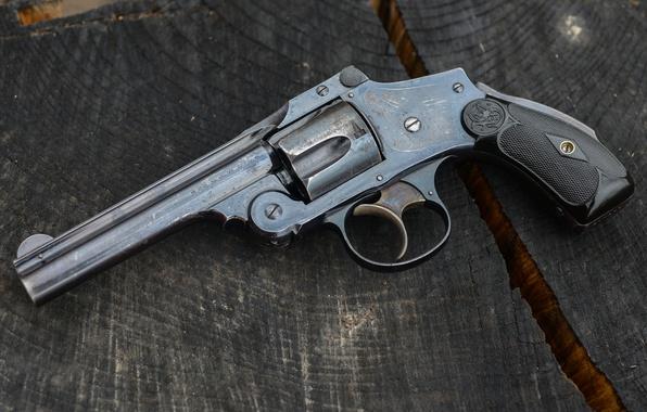Фото обои макро, ствол, револьвер