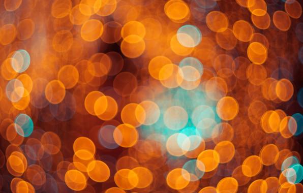 Картинка свет, lights, огни, фон, golden, золотой, background, боке, bokeh