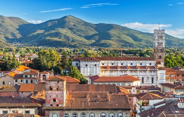 Картинка природа, крыши, италия