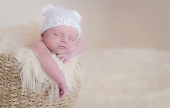 Картинка корзина, ребёнок, младенец