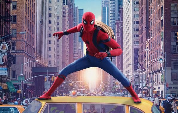 Картинка City, Action, Fantasy, Heroes, Hero, Cars, Brooklyn, New York, Iron Man, year, Evil, Robert Downey …