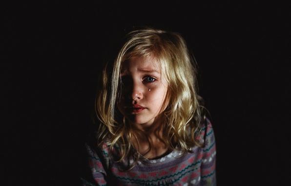 Картинка настроение, девочка, слёзы