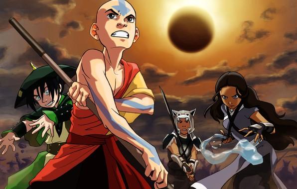 Картинка Avatar, Аватар, Тоф, Сока, Аанг, Катара, Katara, Nickelodeon, Aang, Sokka