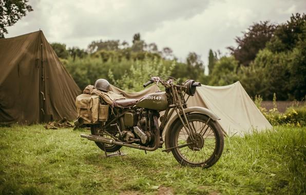 Фото обои мотоцикл, военный, Ariel