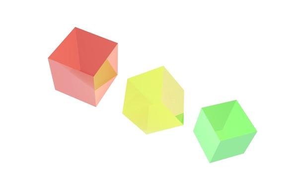 Картинка абстракция, краски, кубик, куб