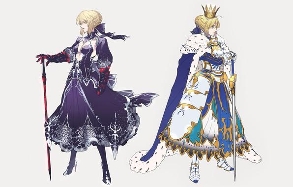 Картинка Девушки, Доспехи, Арт, Сейбер, Fate / Grand Order, Судьба великая кампания