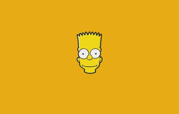 Картинка Симпсоны, Минимализм, Рисунок, Лицо, Голова, Simpsons, Барт, Арт, Мультфильм, The Simpsons, 20th Century Fox, Персонаж, …