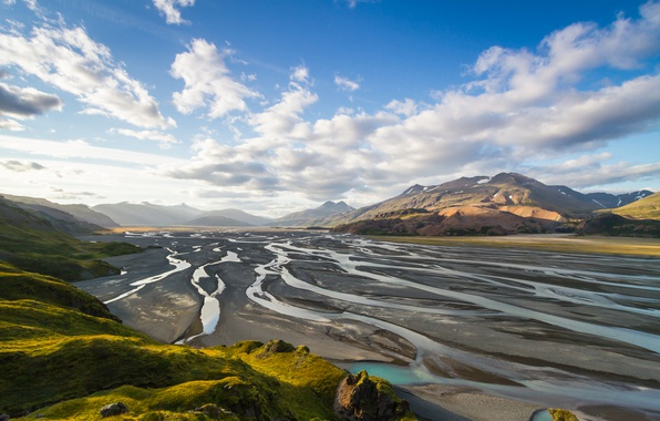 Картинка Исландия, Iceland, Auster-Skaftafellssysla, Hofn i Hornafirdi