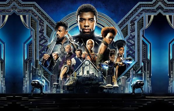 Картинка Action, Black, Warrior, The, 2018, Prince, Martin Freeman, Panther, EXCLUSIVE, MARVEL, Walt Disney Pictures, Movie, …