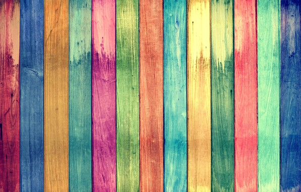 Картинка фон, доски, радуга, текстура