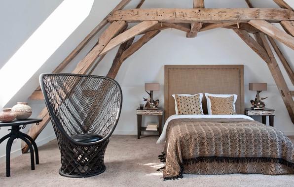 Картинка комната, интерьер, спальня, Eclectic Residence in France
