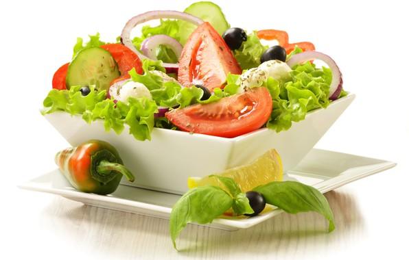 Картинка помидоры, салат, маслины, греческий