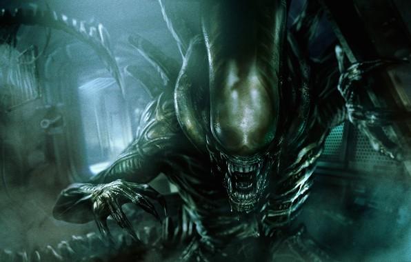 Картинка фантастика, триллер, постер, Alien, ужасы, Alien: Covenant, Чужой: Завет