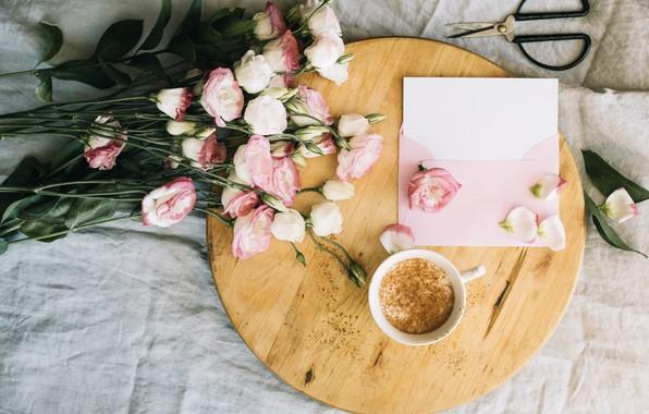 Картинка цветы, кофе, букет