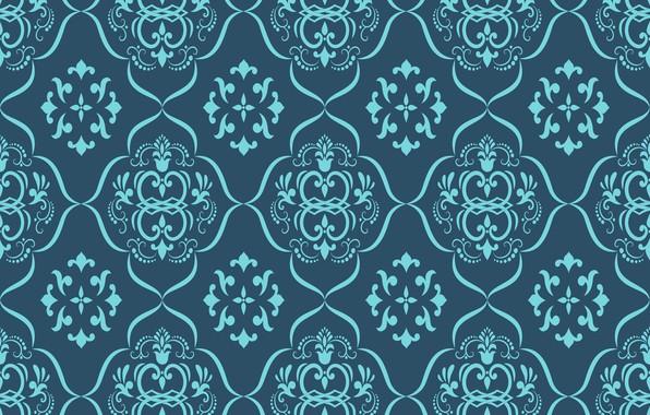 Картинка цветы, ретро, обои, узор, орнамент, винтаж