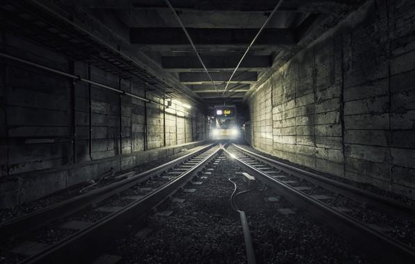 Картинка метро, поезд, тоннель