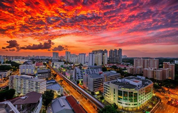 Картинка Сингапур, мегаполис, Singapore, Bukit Merah