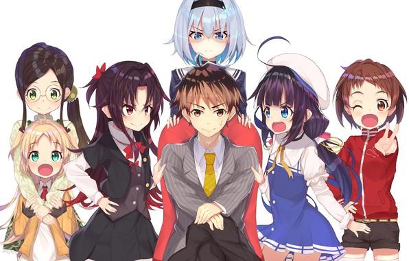 Картинка девушки, аниме, арт, парень, персонажи