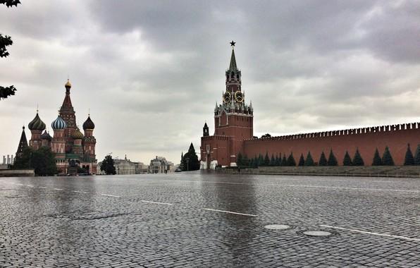 Фото обои Москва, кремль, Россия, Красная площадь, Moscow
