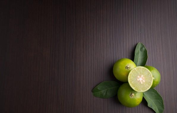 Картинка листья, Лайм, цитрус