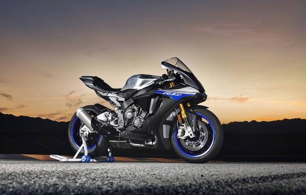 Картинка вечер, байк, Yamaha, 2018, YZF, R1M
