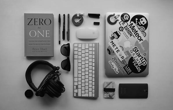 Картинка apple, мышь, наушники, очки, ручка, объектив, кабель, провод, телефон, клавиатура, ноутбук, ручки, magic, headphones, magic …