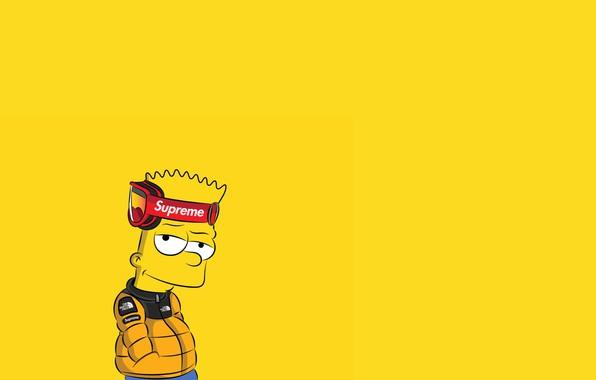 Картинка Симпсоны, Рисунок, Фон, Simpsons, Барт, Арт, Мультфильм, The Simpsons, Персонаж, Supreme, Bart, Мультсериал, Шоу, Барт …