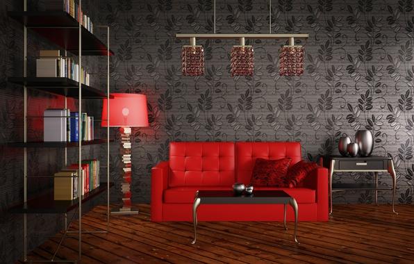 Картинка design, living room, Modernity
