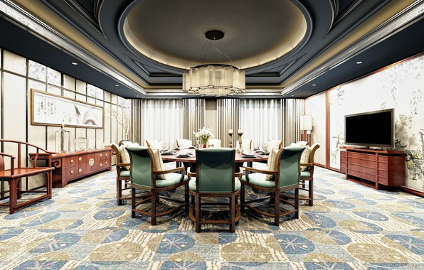 Картинка дизайн, стол, China, мебель, стулья, интерьер, люстра, interior, decoration, element, столвая