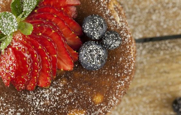 Картинка ягоды, Клубника, Сладости, блины, Strawberry