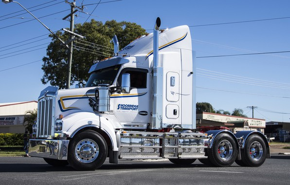 Картинка White, Kenworth, hrome