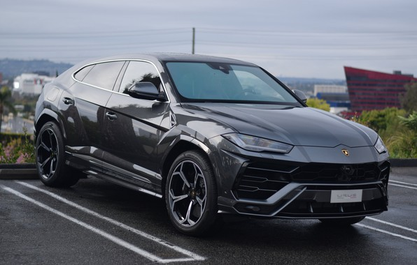 Картинка Lamborghini, Gray, Parking, Urus