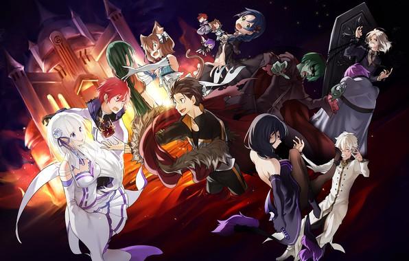 Картинка аниме, арт, персонажи, Re: Zero kara Hajimeru Isekai Seikatsu, С нуля