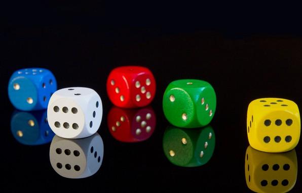Картинка Макро, Красный, Зеленый, Кубики, Фон