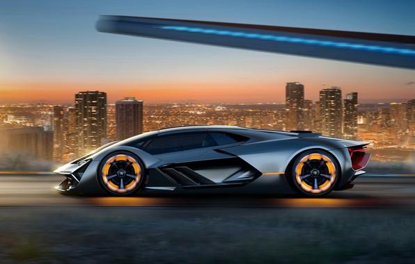 Фото обои Concept, Lamborghini, Terzo Millennio