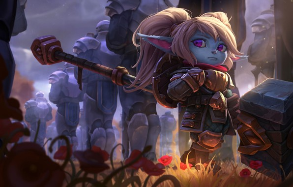 Картинка игра, фэнтези, арт, League of Legends, Riot Games, Poppy, Joshua Brian Smith, Keeper of the …