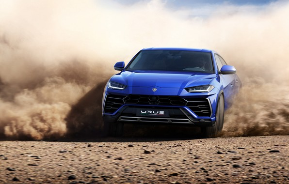 Картинка Lamborghini, Blue, New, Sand, Urus, VAG