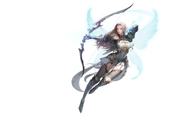 Картинка крылья, лучница, фэнтези, арт, Illustrator, Daeho Cha, MU ORIGIN illust